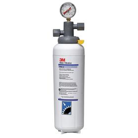 3M Filtration System for Food Service: 3.34 gpm Flow Rate, 3 micron Filter Rating, 35000 gal Service Life, 17 5/8 in Ht