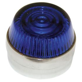 Eaton Pilot Light Lens: 2.19 in Overall Lg, Designed for Most Rugged Industrial Applications, Blue, 18 Haz Material Indicator