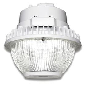 GE Roadway Fixture: For LED Garage Light, 9 in Overall Ht, 9 45/64 in Overall Lg, 9 45/64 in Overall Wd, White, 5000 lm