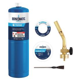 Worthington Bernzomatic Brazing Torch Kit: 5 Pieces, For Propane, Pencil, Manual Start