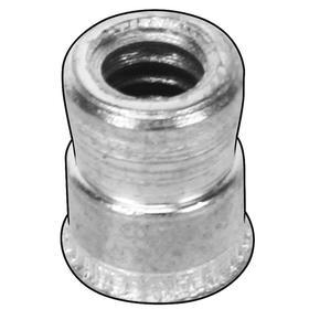 Insert Nut: Plain, Stainless Steel, 10-32 Thread Size, 0.37 in Insert Lg, 18 Haz Material Indicator, Imperial, 10 PK