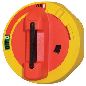 GE Disconnect Switch Rotary Handle: NEMA 3R NEMA Rating, Red/Yellow, NEMA 4/NEMA 4X, For 30 A/60 A, RoHS Compliant