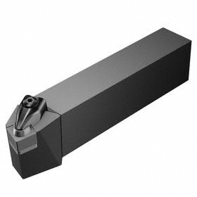 Sandvik Coromant Indexable Turning Toolholder: 1 1/4 in Shank Wd, 1 1/4 in Shank Ht, 6 in Overall Lg, 75° Side Cutting Edge Angle, Left Hand