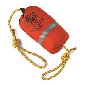 Throw Bag: Type IV US Coast Guard (USCG) Rating, 70 ft Rope Lg, Orange, Cordura
