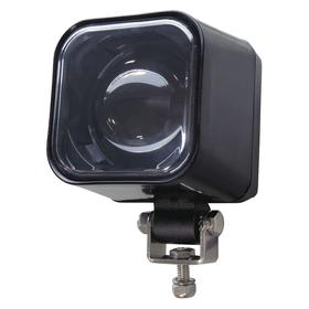 Forklift Warning Spotlight: LED, Aluminum, 2 5/8 in Overall Ht, 2 7/8 in Overall Wd, Blue, 600 lm Lumens, 64 V DC Volt