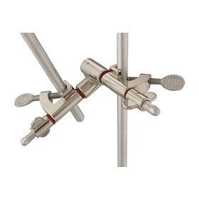 Lab Frame Clamp Holder: 3/4 in Max Jaw Opening, 5 1/4 in Overall Lg, 5 1/4 in Overall Wd, 5 1/4 in Overall Ht, Zinc