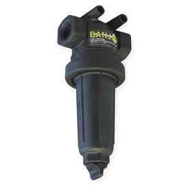 T-Line Strainer: 595 micron Filter Rating, 40 gpm Flow Rate, 1 in Connection Size, NPT, 1 in Inlet Tube Size, Black