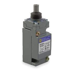 Schneider Electric Heavy Duty Pin Plunger Limit Switch: Top, Zinc, 10 A @ 600V AC Current Rating, 0.25 in