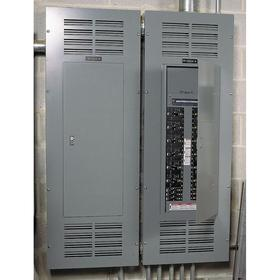 Schneider Electric Panelboard Interior: 125 A Current Rating, Copper, 18 Spaces, 277/480V AC Wye, 21 in Overall Ht