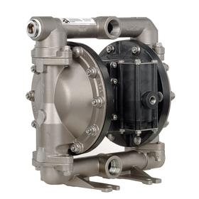 Ingersoll Rand Air-Operated Double Diaphragm Pump: 52 gpm Max Flow Rate, PTFE, Multiport, 52 cfm Max Air Consumption