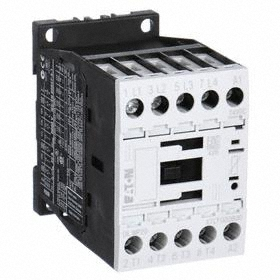 Eaton IEC Magnetic Contactor: 4 Poles, Single/Three Phase, 12 A Current Rating, 208V AC Control Volt, Silver Alloy