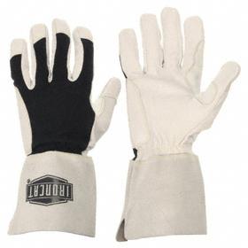 Welding Glove: Goatskin, XL Size, 1.2 mm Glove Material Thickness, 12 3/4 in Glove Length, Gauntlet Cuff, Black, 1 PR