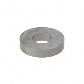Oversized Flat Washer: Steel, Plain, Case Hardened Material Grade, For 1/4 in Screw Size, 0.282 in ID, 25 PK