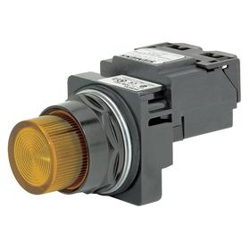 Siemens Pilot Light Complete Unit: 120V AC, Transformer, Amber, For LED, Epoxy Coated, 30 mm Compatible Panel Cutout Dia