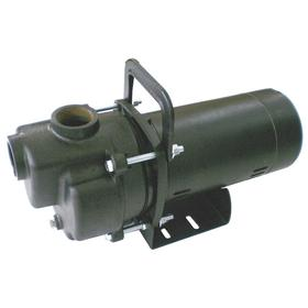 Centrifugal Pump: 1/2 hp Input Horsepower, Continuous Motor Duty Class, (ODP) Open Drip Proof, Semi-Open, 1 Phase