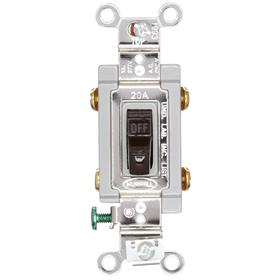 Hubbell Wiring Device-Kellems Toggle Light Wall Switch: 2-Pole, Heavy Duty Specification Grade, Maintained