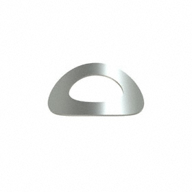 Curve Disc Spring: 18-8 Stainless Steel, For 1/4 in Screw Size, 0.265 in Min ID, 0.49 in Max OD, 0.008 in Thickness, 10 PK