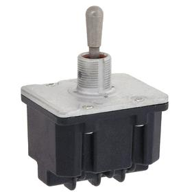 Honeywell Heavy-Duty Toggle Switch: 1/2 in Mounting Hole Dia, 3 Positions, 10 A @ 277V AC Switch Rating (AC), 4 Poles, On-Off-On