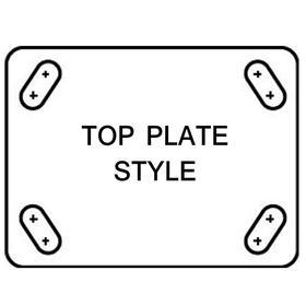 NSF Listed Plate Caster: 5 in Wheel Dia, Rigid, Gray Tread, Thermoplastic Rubber Tread, Soft Relative Tread Hardness, B