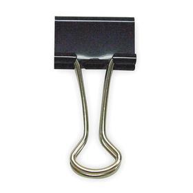 Binder Clip: 3/8 in Jaw Opening Size, 46 Sheet Capacity, Black, 40 PK