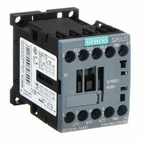 Siemens IEC Contactor: 3 Poles, Single/Three Phase, 9 A Current Rating, 1NO Auxiliary Contact Pole-Throw Configuration, 3 hp - Three Phase @ 240V