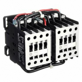 GE IEC Magnetic Contactor: 3 Poles, Single/Three Phase, 32 A Current Rating, 24V AC Control Volt, Reversing