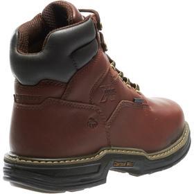 Wolverine Leather Work Boot: Metatarsal Guard/Slip Resistant, D Shoe Wd, 7 Men's Size, Men, Steel, 6 in Shoe Ht, 1 PR