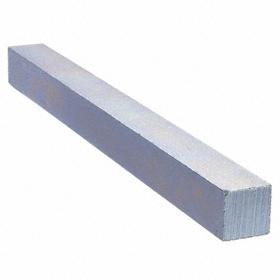 Undersized Key Stock: Rectangle, Plain, Steel, 36.0 in Lg, -0.125 in Lg Tolerance, 1/8 in Wd, -0.002 in Wd Tolerance