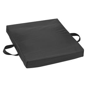 Gel Cushion: Nylon, 2 in Overall Ht, 20 in Wd, Black, Hand Wash/Latex Free, 18 Haz Material Indicator, 16 in Lg