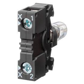 Siemens Lamp Module with Bulb: For Mfr. No. 3SB34000B Contact Block/Mfr. No. 3SB34000C Contact Block, 130V AC/DC, Clear