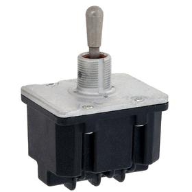 Heavy-Duty Toggle Switch: 2 Positions, 1/2 in Mounting Hole Dia, 15 A @ 277V AC Switch Rating (AC), 4 Poles, On-Off