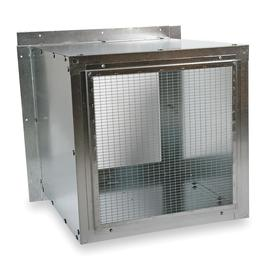 Wall Housing: 48 in For Fan Dia, 16 ga Thickness, Steel, 54 1/4 in Overall Ht, 54 1/4 in Overall Wd, 44 in Overall Dp