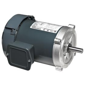 Regal AC Motor: Three Phase, 1 hp Output Power, 1725 Nameplate RPM, 56C NEMA Frame Size, 575V AC, TEFC, CW/CCW, Ball