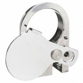 Eaton Push Button Padlock Attachment: Metal, 30 mm Compatible Panel Cutout Dia, Silver, For Push Buttons, Round