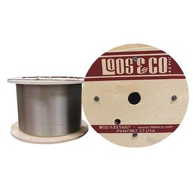 Wire Rope: Galvanized Steel, 1 x 19, Uncoated, 1/16 in Rope Dia, 100 lb Max Load Capacity, 250 ft Overall Lg, 1/16 in OD