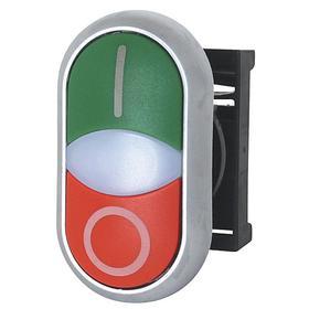 Eaton Multi-Head Push Button: 22 mm Compatible Panel Cutout Dia, 1 Operators, Non-Illuminated, I/O, Momentary, Oval