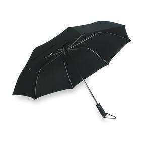 Umbrella: 25 in Open Ht, 40 in Open Dia, 16.75 in Closed Ht, Nylon, Auto Open/Close, Black