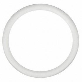 Temperature-Resistant PTFE O-Ring: 214 AS568 Dash, White, -100° F Min Op Temp, 500° F Max Op Temp, 55 Shore D, 10 PK