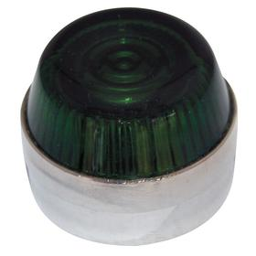 Eaton Pilot Light Lens: 2.19 in Overall Lg, Designed for Most Rugged Industrial Applications, Green, 30 mm Compatible Panel Cutout Dia