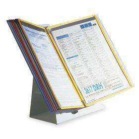 Desktop Reference Rack: 10 Pockets, Gen Purpose, 11 in Sheet Ht, 8 1/2 in Sheet Wd, 12 1/2 in Overall Ht