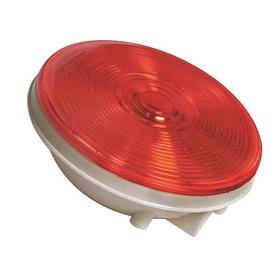 Combination Vehicle Signal Light: Round, Red, 12 V DC Volt, 2.1 A Current, 4 3/8 in OD