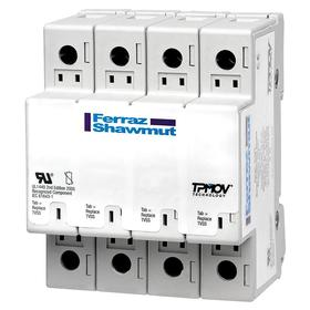 Surge Protection Device: 120/208V AC Nominal System Volt, 50 kA Max Surge Current Per Phase, 3 Poles, Nonfiltering