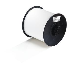 Brady Label Cartridge: Identification, Vinyl, For Brady MiniMark Label Printer, 4 in Label Wd, 100 ft Roll Lg, Clear