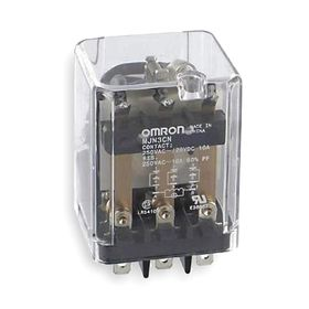 Omron Socket Mount Relay: 3PDT Pole-Throw Configuration, 11 Terminals, Plug-In, 24V DC Control Volt, Blade Terminals, LED