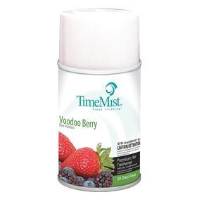 TimeMist Aerosol Air Freshener Refill: Aerosol Refill, Voodoo Berry, 30 day Scent Life, 6.6 oz Size, 12 PK