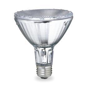 GE Reflector HID Bulb: Metal Halide, Flood, PAR30L, E26, 39 W Watt, 2400 lm, 80 Color Rendering Index, ANSI Code M130