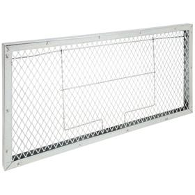 Filter Pad Holding Frame: For Filter Pad, Commercial/Residential, 1 in Filter Thickness, Gray, Steel, 14 in Overall Ht, 4 PK