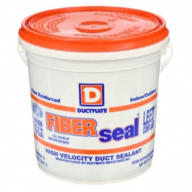 Duct Sealant: Metal/Plastic Bonded/Sealed, 60 min, 72 hr Full Cure Time, Gray, Latex, 1 gal Size, Pail