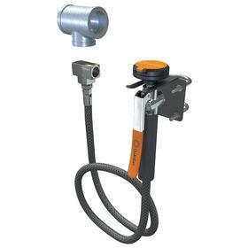 Guardian Equipment Drench Hose: 8 ft Hose Lg, PVC, NPT, Black/Gray/Orange/Silver, Flip Top, 70 Haz Material Indicator