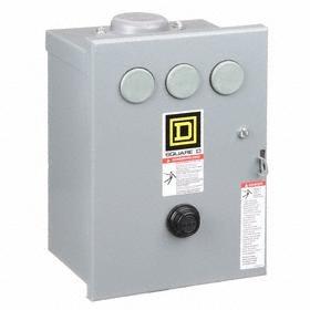 Schneider Electric NEMA Motor Starter: 1 NEMA Size, Raintight, NEMA 3R NEMA Rating, Three Phase, AC Current Type, 3 Poles